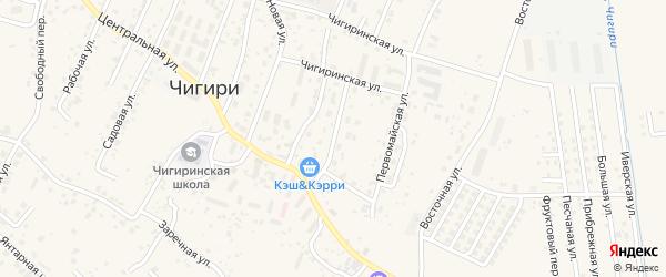 Партизанская улица на карте села Чигири с номерами домов