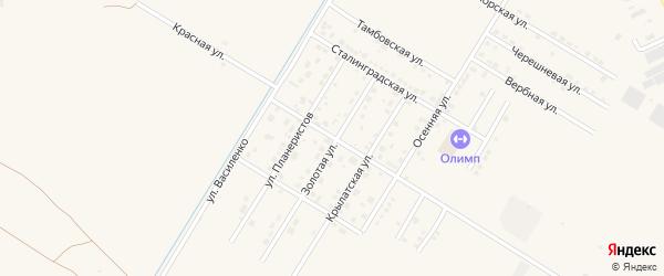 Красивая улица на карте села Чигири с номерами домов
