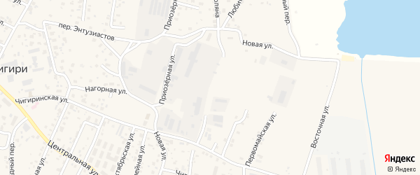 Переулок Печатников на карте села Чигири с номерами домов