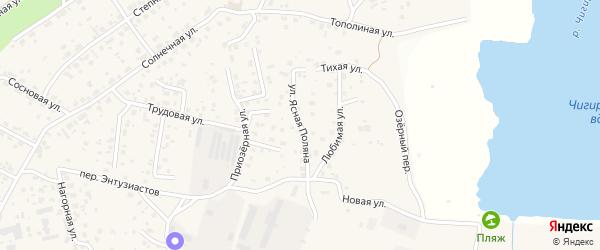 Улица Ясная Поляна на карте села Чигири с номерами домов