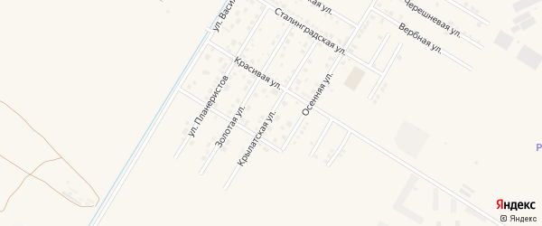 Крылатская улица на карте села Чигири с номерами домов