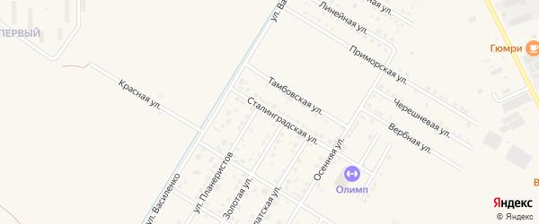 Сталинградская улица на карте села Чигири с номерами домов