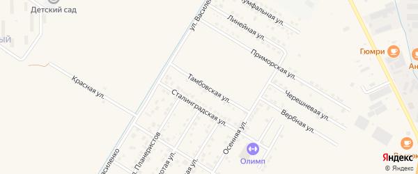 Тамбовская улица на карте села Чигири с номерами домов