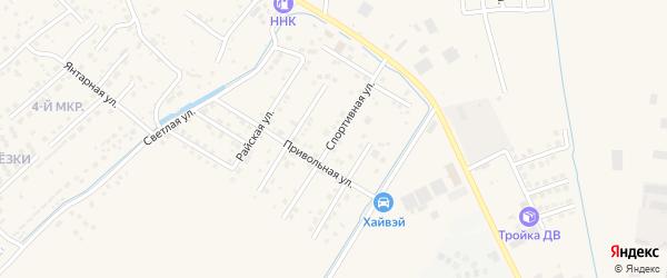 Спортивная улица на карте села Чигири с номерами домов