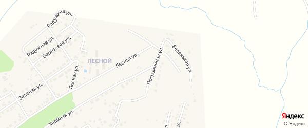 Пограничная улица на карте села Чигири с номерами домов