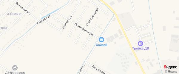 Лучезарная улица на карте села Чигири с номерами домов