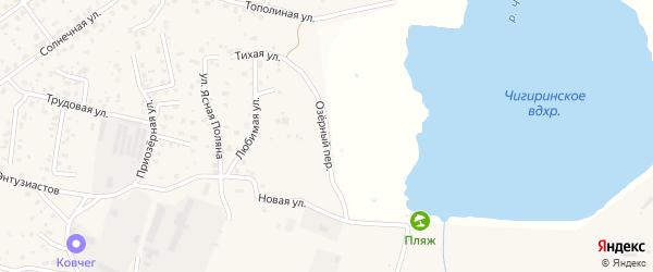 Озерный переулок на карте села Чигири с номерами домов