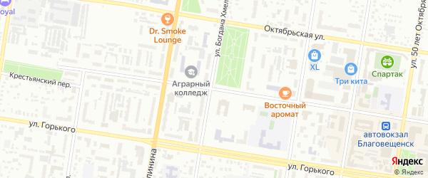 Красноармейская улица на карте Благовещенска с номерами домов