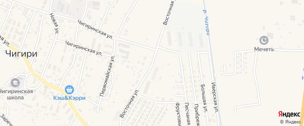 Восточная улица на карте села Чигири с номерами домов