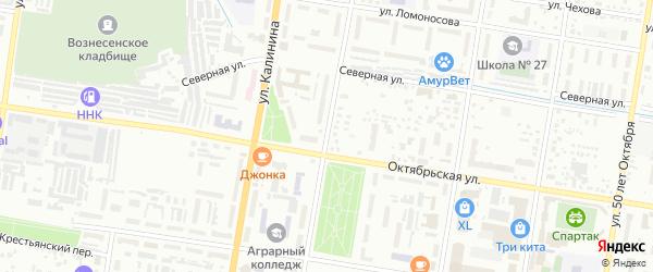 Улица Б.Хмельницкого на карте Благовещенска с номерами домов