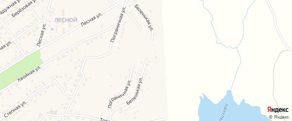 Беленькая улица на карте села Чигири с номерами домов