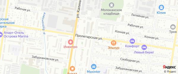 Пролетарская улица на карте Благовещенска с номерами домов