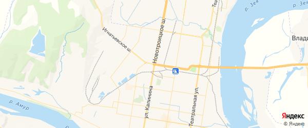 Карта Благовещенска с районами, улицами и номерами домов