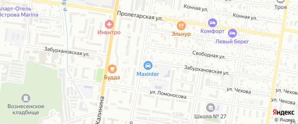 Забурхановская улица на карте Благовещенска с номерами домов