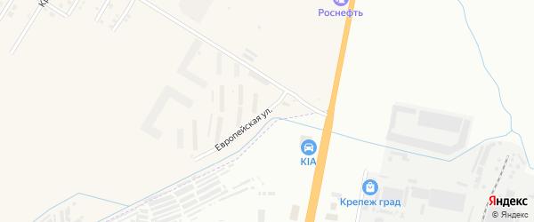 Европейская улица на карте села Чигири с номерами домов