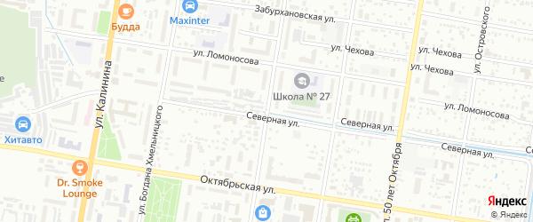 Улица Шевченко на карте Благовещенска с номерами домов