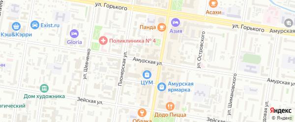 Амурская улица на карте Благовещенска с номерами домов