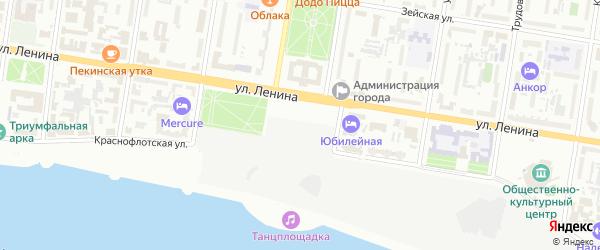 Площадь Ленина на карте Благовещенска с номерами домов