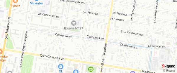 Северная улица на карте Благовещенска с номерами домов