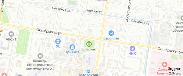 Октябрьская улица на карте Благовещенска с номерами домов