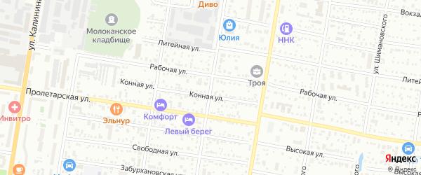 Пионерская улица на карте Благовещенска с номерами домов