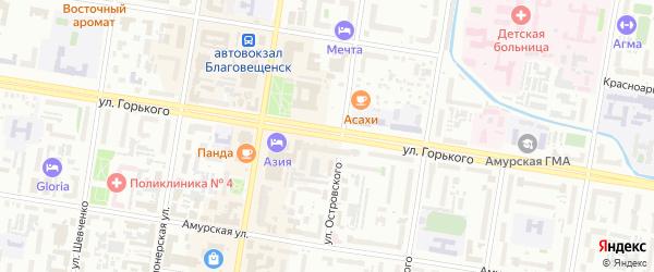 Улица Горького на карте Благовещенска с номерами домов
