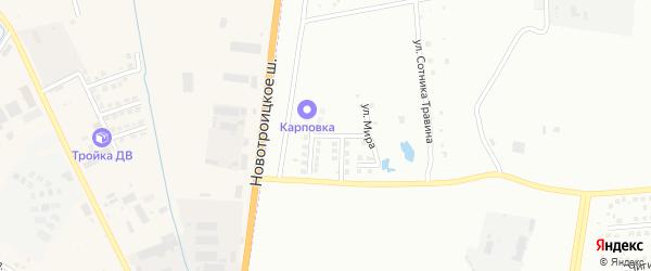 Улица Новоселов на карте Благовещенска с номерами домов
