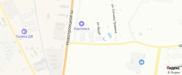 Семейная улица на карте Благовещенска с номерами домов