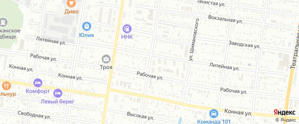 Улица Островского на карте Благовещенска с номерами домов