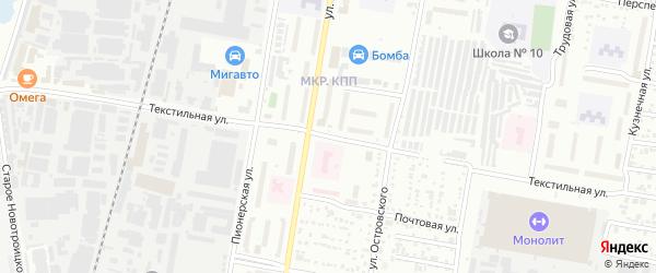 Текстильная улица на карте Благовещенска с номерами домов