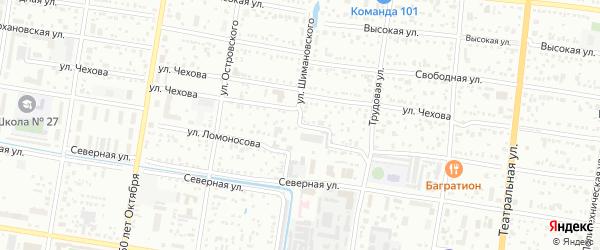 Улица Ломоносова на карте Благовещенска с номерами домов