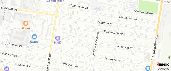 Заводской переулок на карте Благовещенска с номерами домов