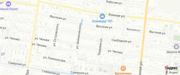 Свободная улица на карте Благовещенска с номерами домов