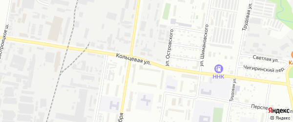 Кольцевая улица на карте Благовещенска с номерами домов