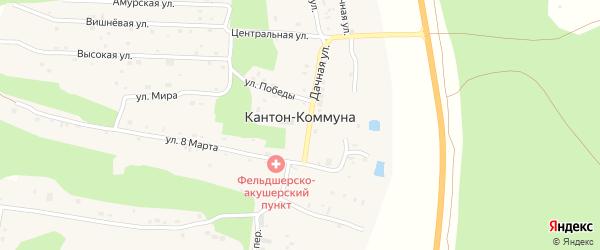 Высокая улица на карте села Кантон-коммуны с номерами домов