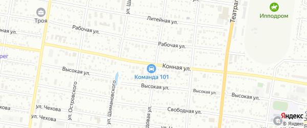 Конная улица на карте Благовещенска с номерами домов