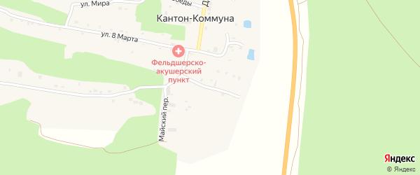 Заречная улица на карте села Кантон-коммуны с номерами домов