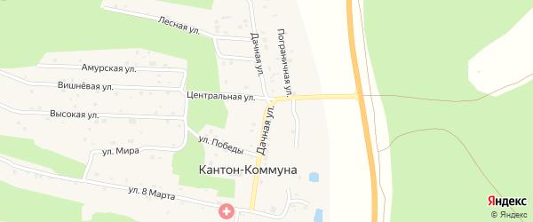Дачная улица на карте села Кантон-коммуны с номерами домов