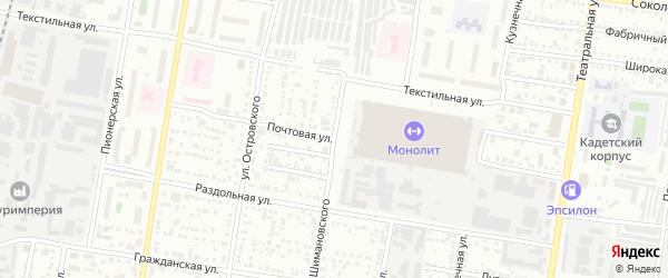 Почтовая улица на карте Благовещенска с номерами домов