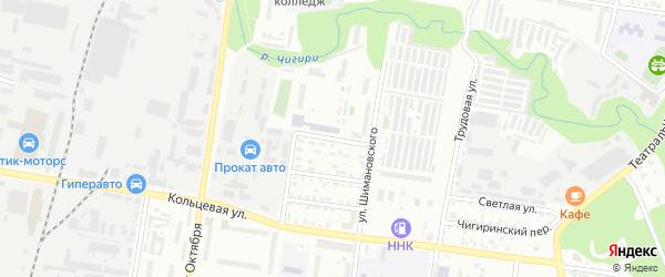 Конечная улица на карте Благовещенска с номерами домов