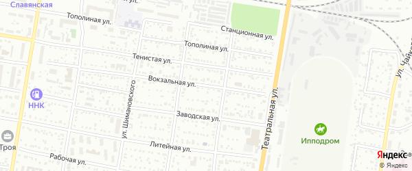 Вокзальная улица на карте села Белогорья с номерами домов