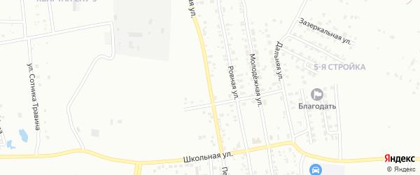 Песчаная улица на карте Благовещенска с номерами домов