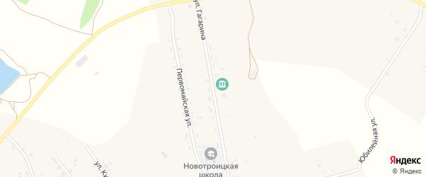 Улица Гагарина на карте Новотроицкого села с номерами домов