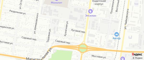 Луговой переулок на карте Благовещенска с номерами домов
