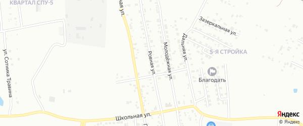 Ровная улица на карте Благовещенска с номерами домов