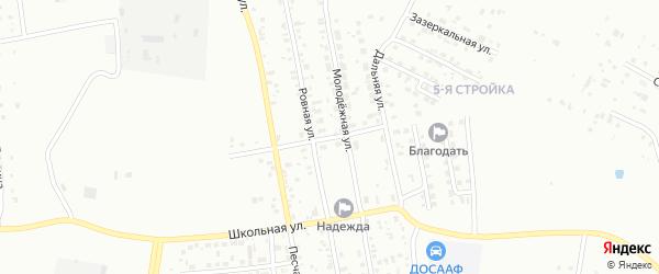 Кирпичная улица на карте Благовещенска с номерами домов