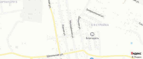 Молодежная улица на карте Благовещенска с номерами домов