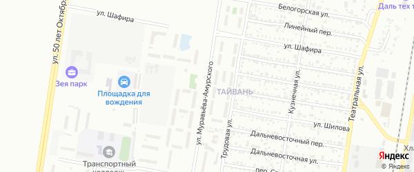 Улица Муравьева-Амурского на карте Благовещенска с номерами домов