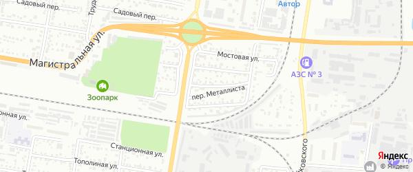 Переулок Металлиста на карте Благовещенска с номерами домов
