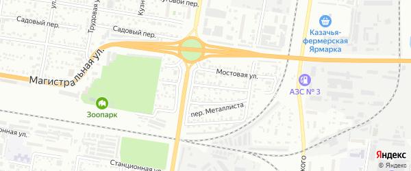 Железнодорожный переулок на карте Благовещенска с номерами домов